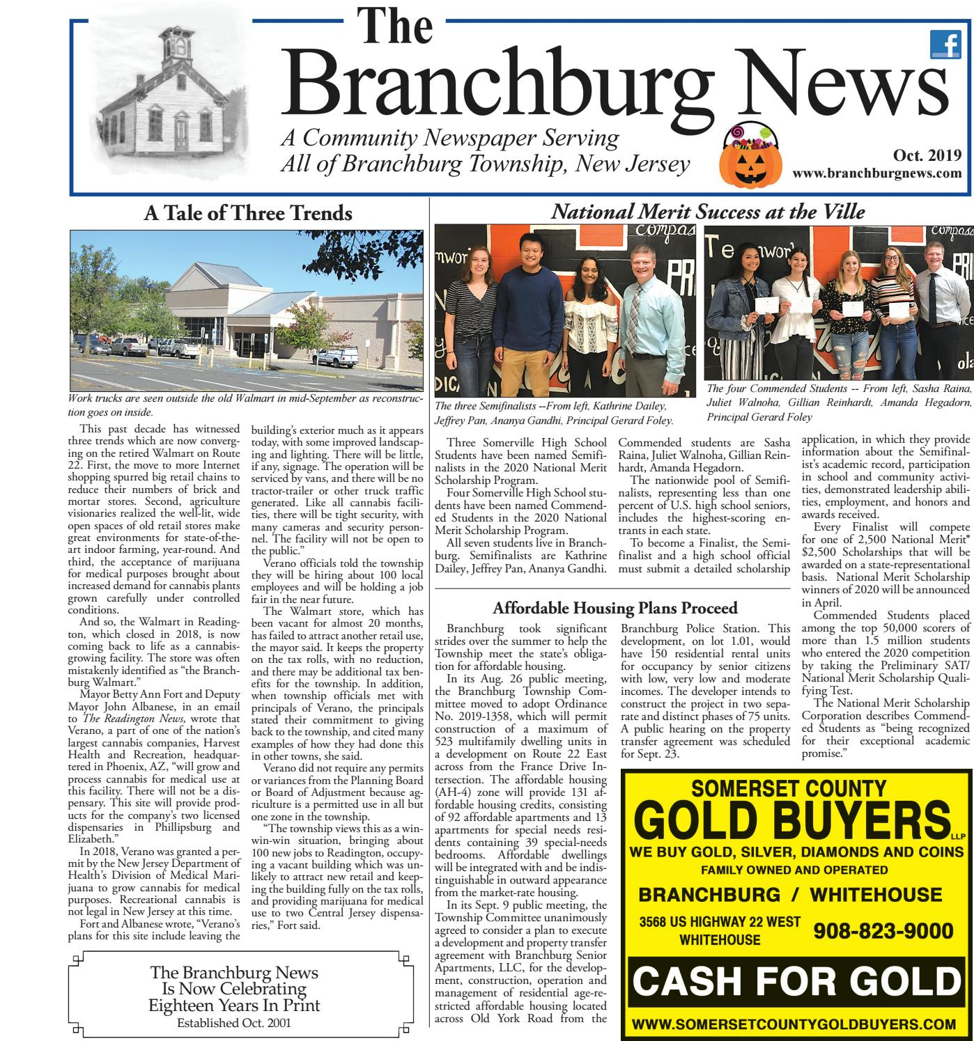 Branchburg News October 2019 Online Edition By Town Media Issuu