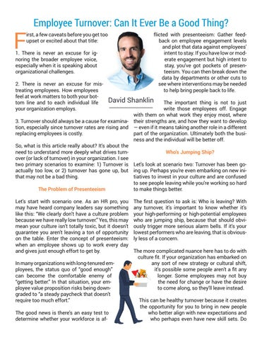 Page 19 of Employee Turnover: Can It Ever Be a Good Thing?