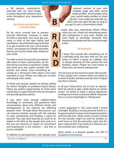 Page 23 of How Recruiters Can Build Better Brands — and Why They Should Even Bother