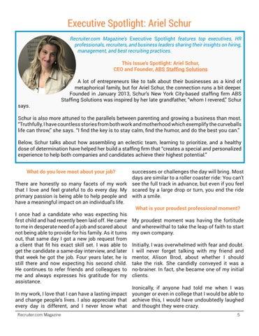 Page 5 of Executive Spotlight: Ariel Schur