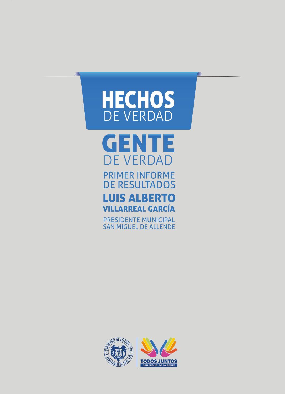 1er Informe De Gobierno 2018 2021 San Miguel De Allende By