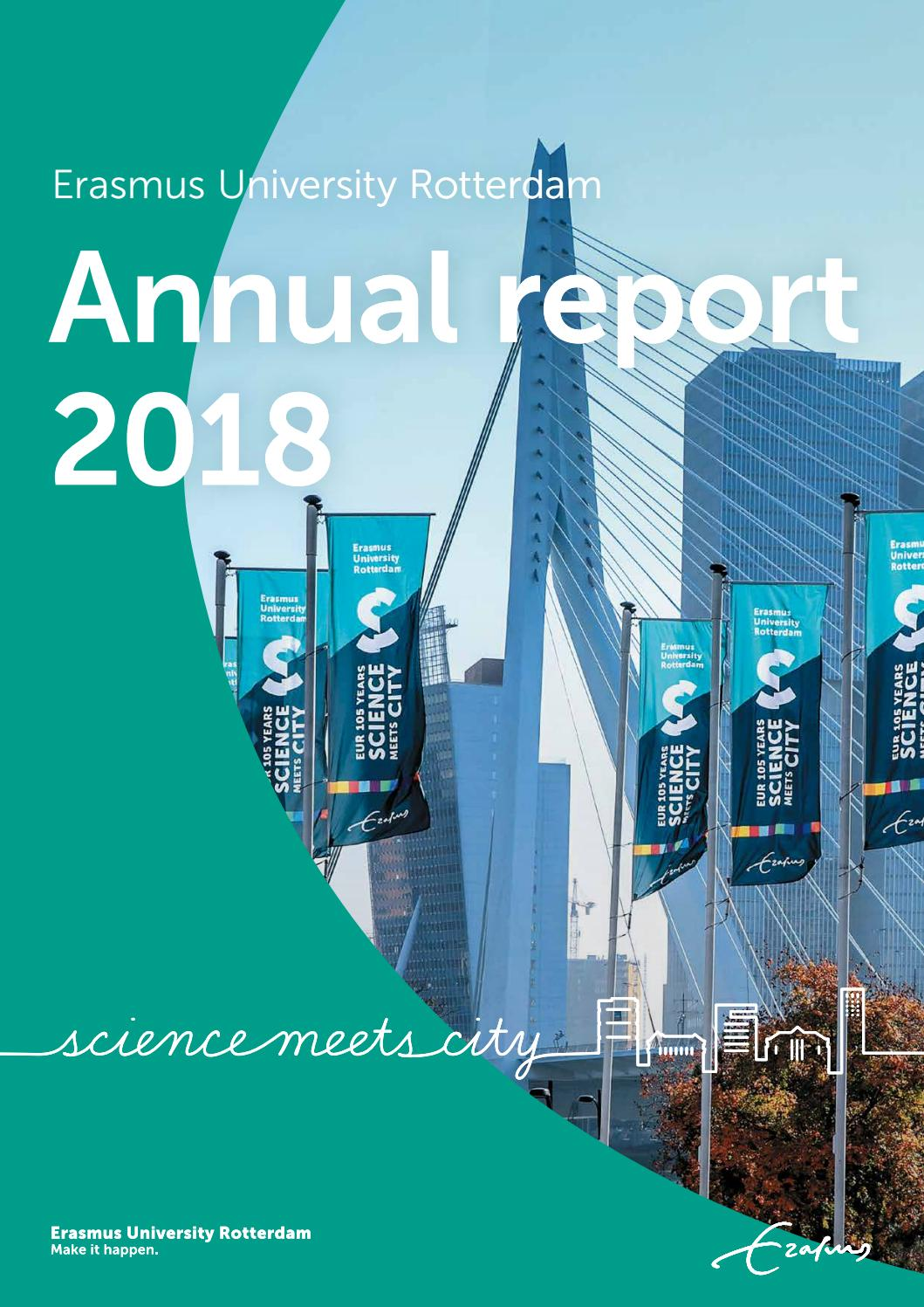 Erasmus University Rotterdam Annual Report 2018 By Erasmus