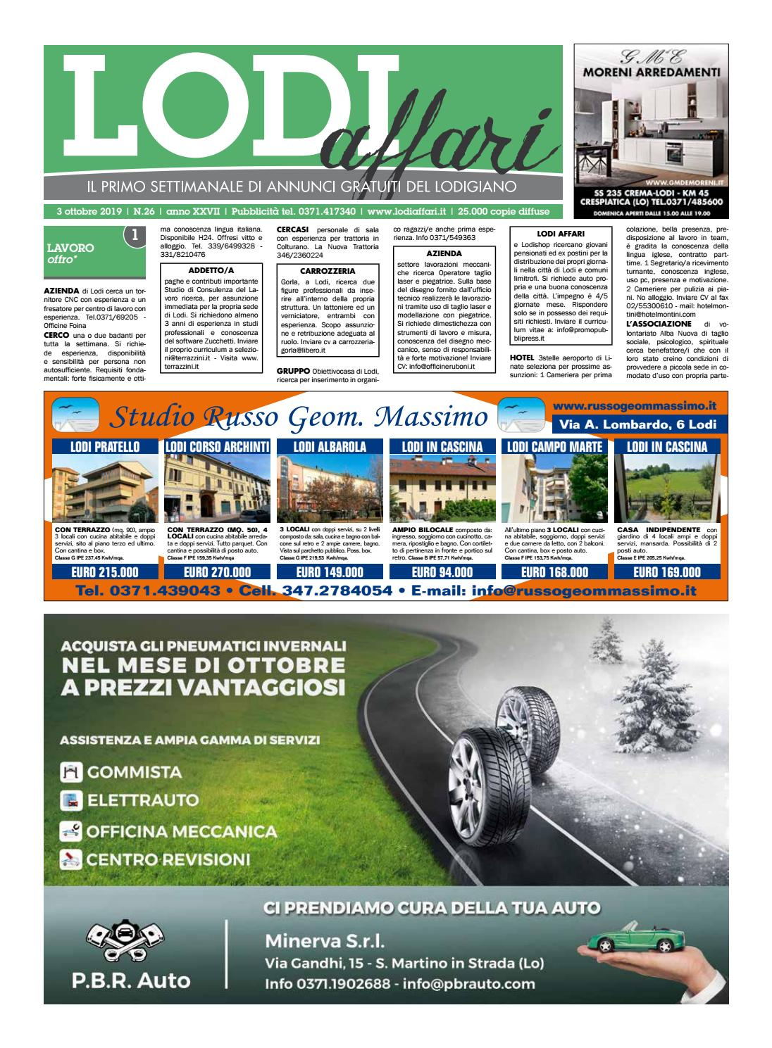 Camere Da Letto Lodi lodi affari 3 ottobre by lodi affari - issuu