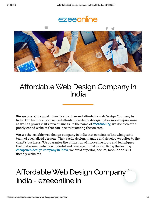 Affordable Web Design Company In India By Priya Kumari Issuu