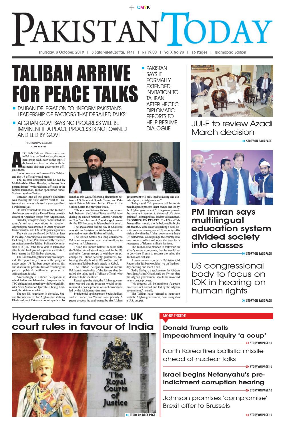 E Paper Pdf 3 October Isb By Pakistan Today Issuu