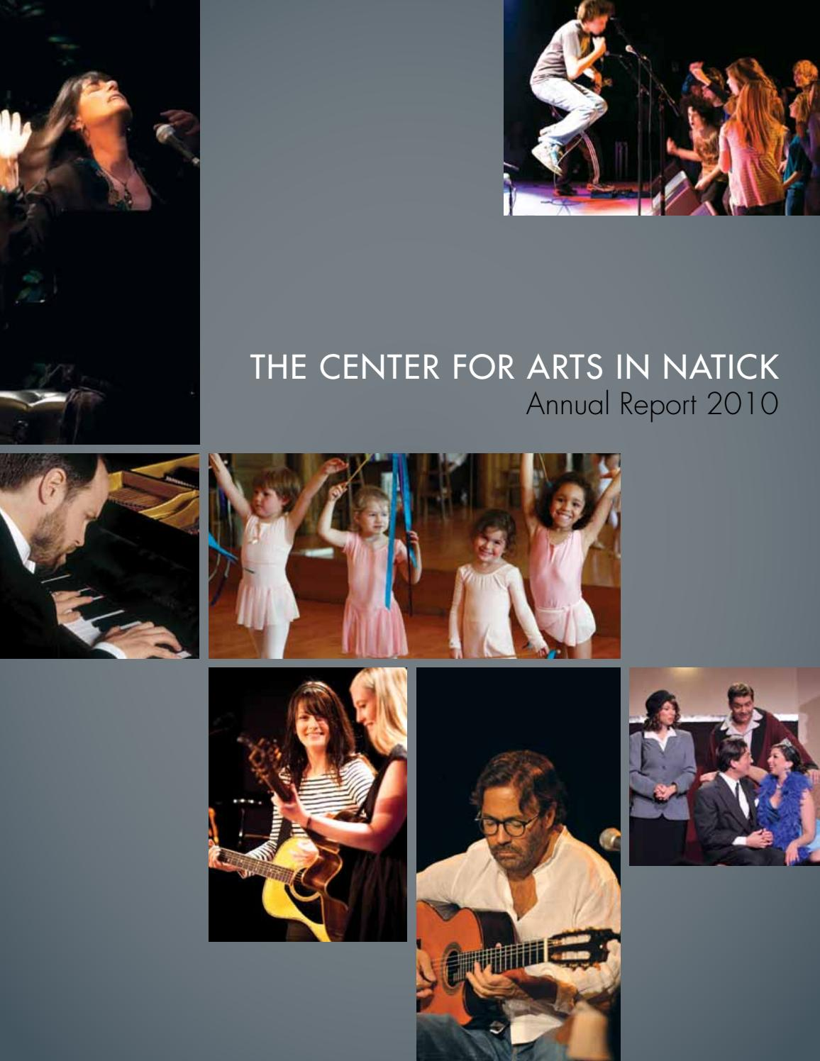 The Center for Arts in Natick Annual Report 2010 by natickarts - issuu