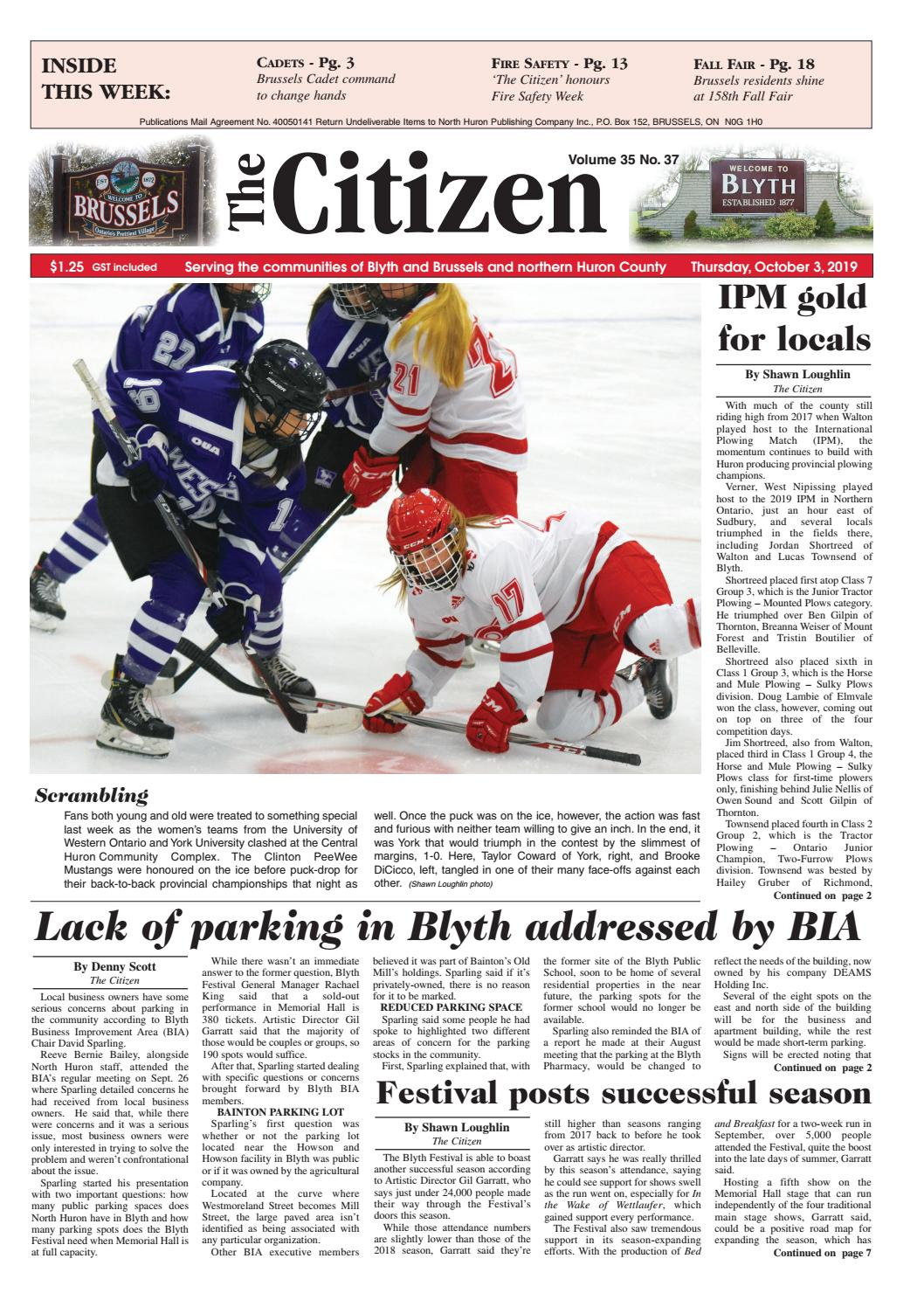 The Citizen Oct 3 2019 by North Huron Publishing pany
