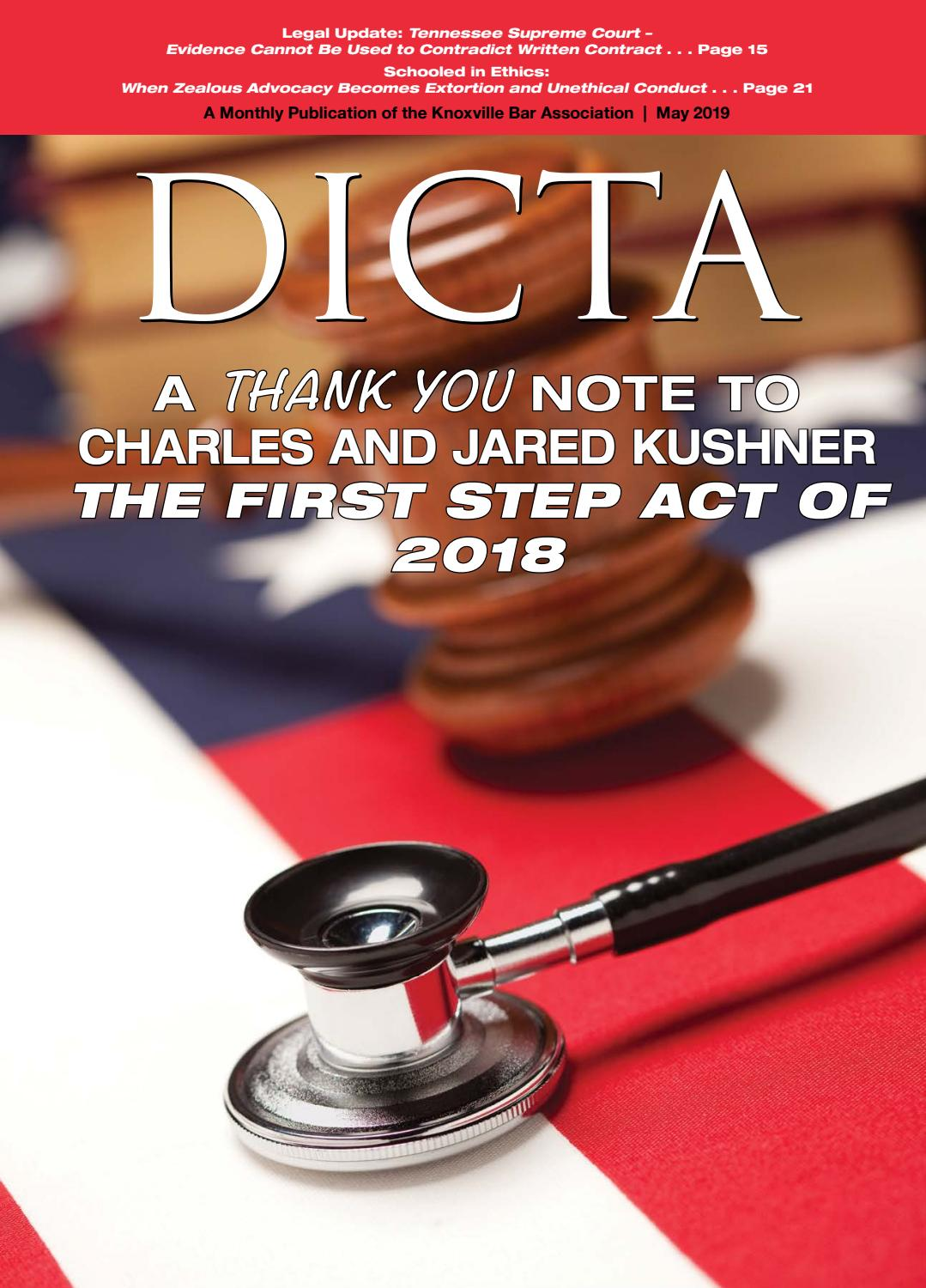 DICTA May 2019 by Knoxville Bar Association - issuu