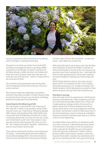 Page 73 of The Inspired Guide #4 - Living Well