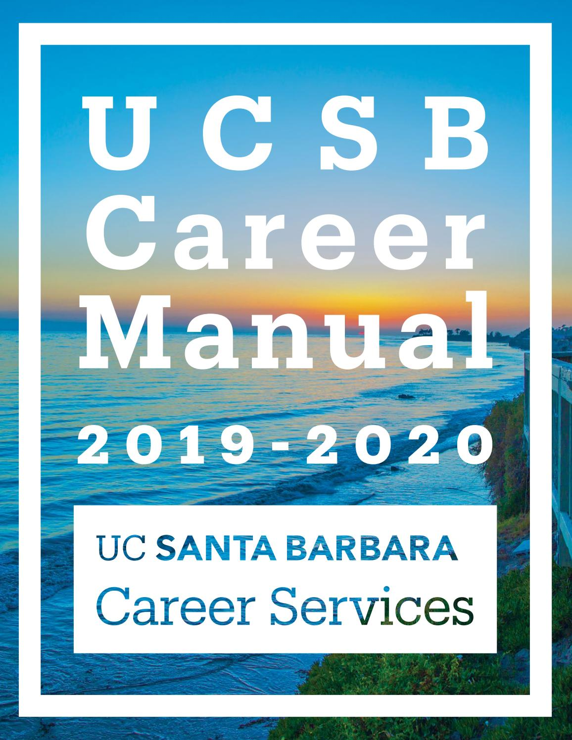 UCSB Career Manual 2019-2020 by UCSB Career Services - issuu