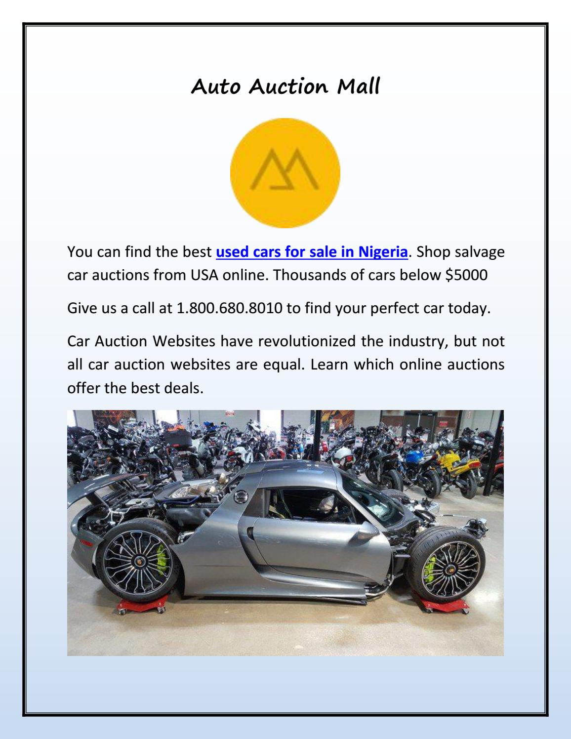 Used Cars For Sale In Nigeria By Auto Auction Mall Issuu