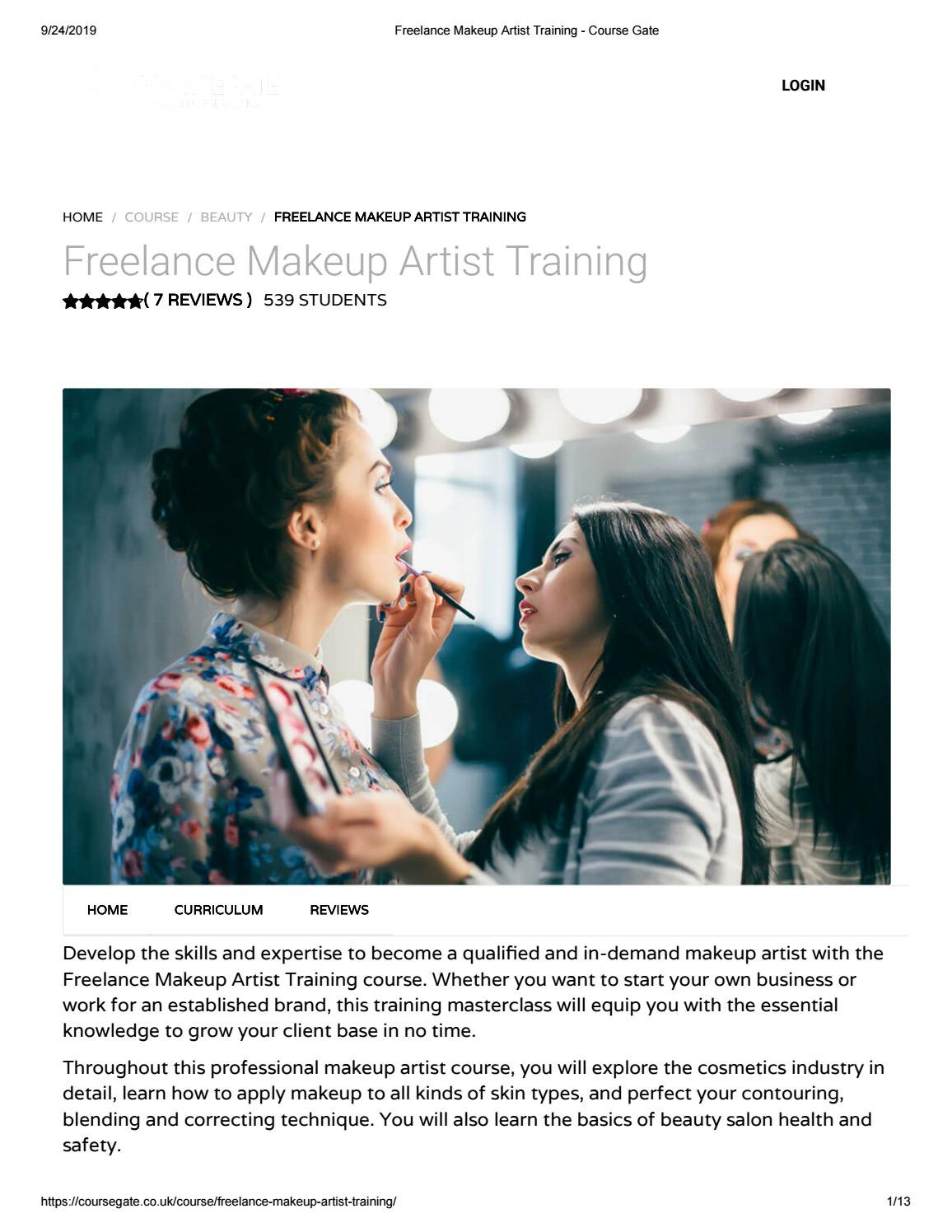 Freelance Makeup Artist Training