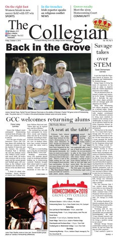 foto de The Collegian – October 4, 2019 by Grove City College - issuu