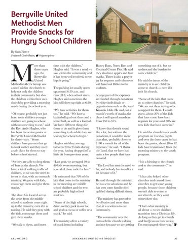 Page 21 of Berryville United Methodist Men Provide Snacks for Hungry School Children