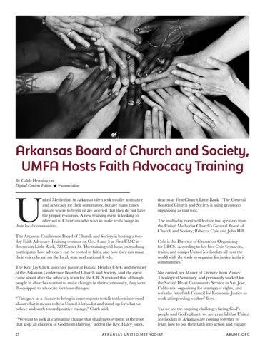 Page 28 of Arkansas Board of Church and Society, UMFA Hosts Faith Advocacy Training