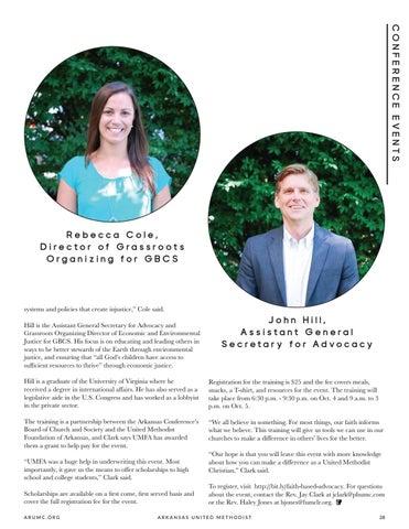 Page 29 of Arkansas Board of Church and Society, UMFA Hosts Faith Advocacy Training
