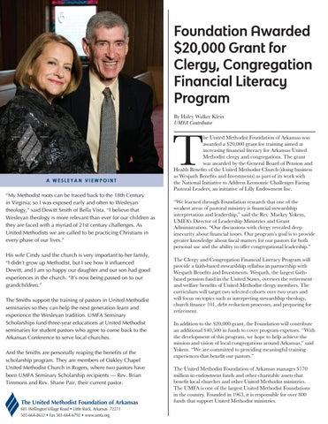 Page 2 of Foundation Awarded $20,000 Grant for Clergy, Congregation Financial Literacy Program