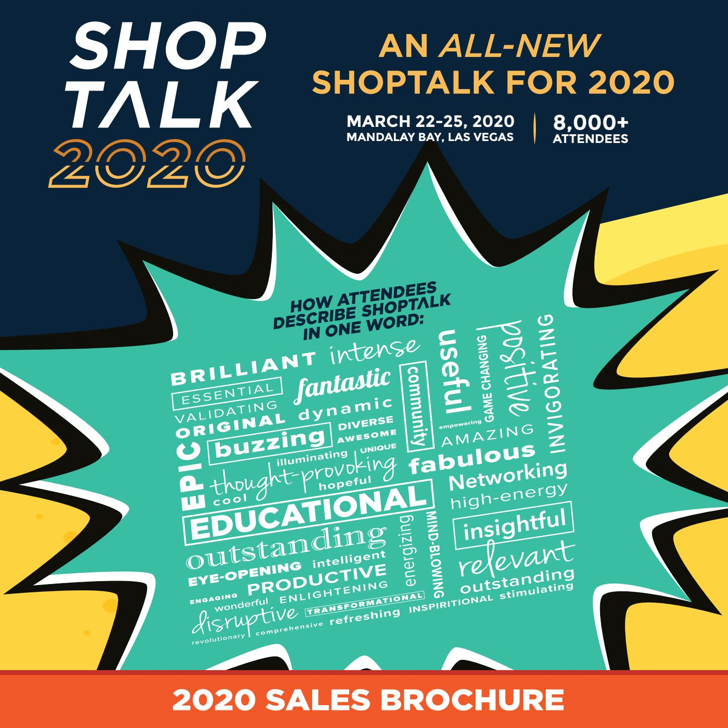 Neat Fair 2020.Shoptalk 2020 Sales Brochure With Pricing By Shoptalk Issuu