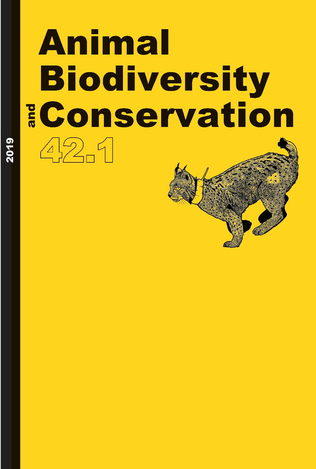 Animal Biodiversity and Conservation 42 1 2019 by Museu