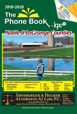 2019 2020 The Phone Book Noble And Lagrange Counties By
