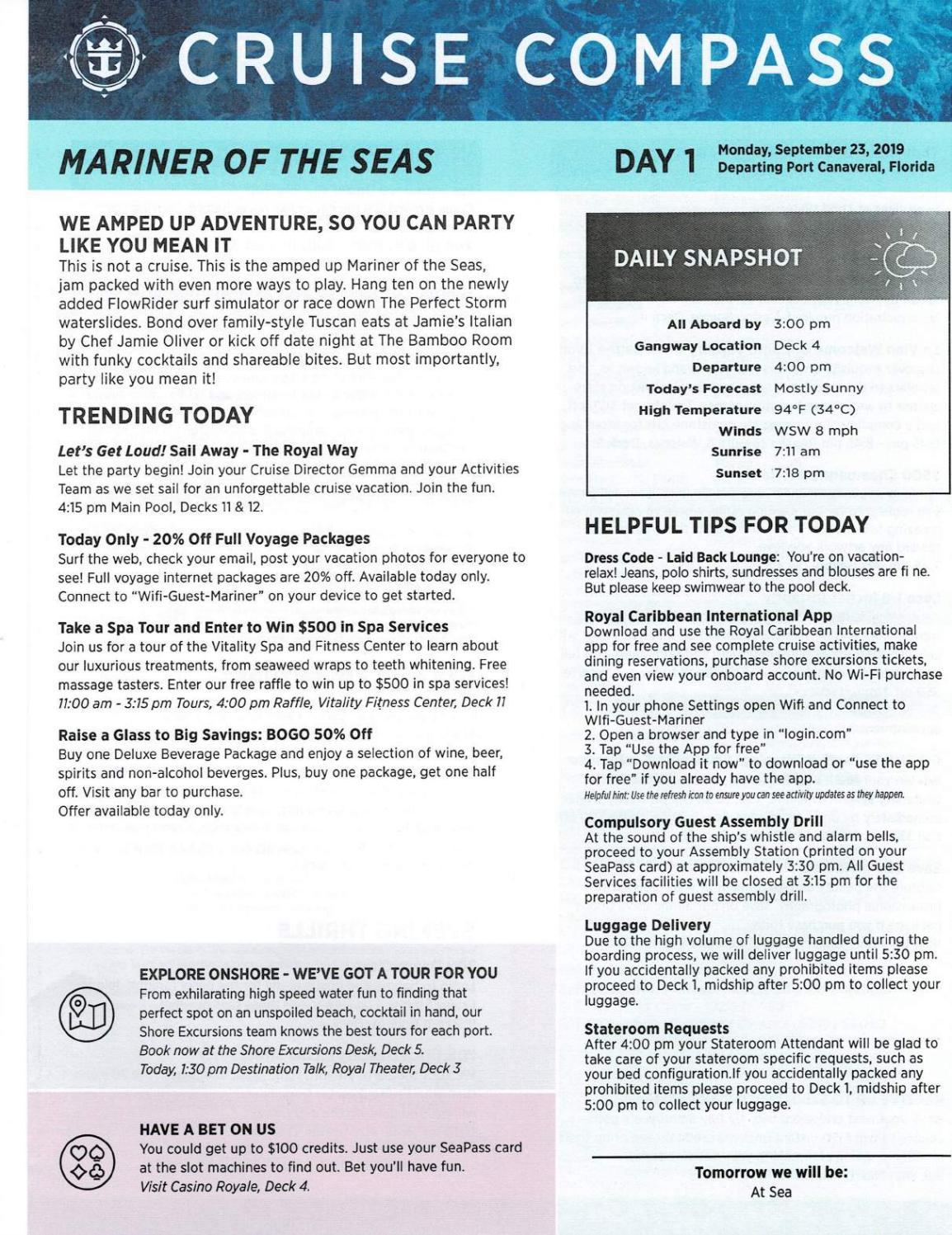 Mariner Of The Seas 4-night Nassau & Perfect Day At