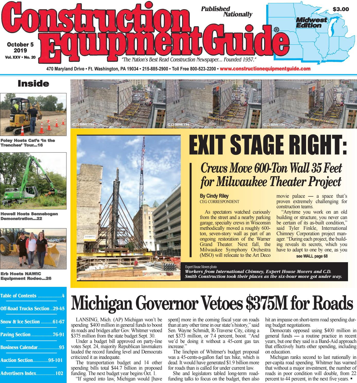 Midwest 20 October 5, 2019 by Construction Equipment Guide - issuu