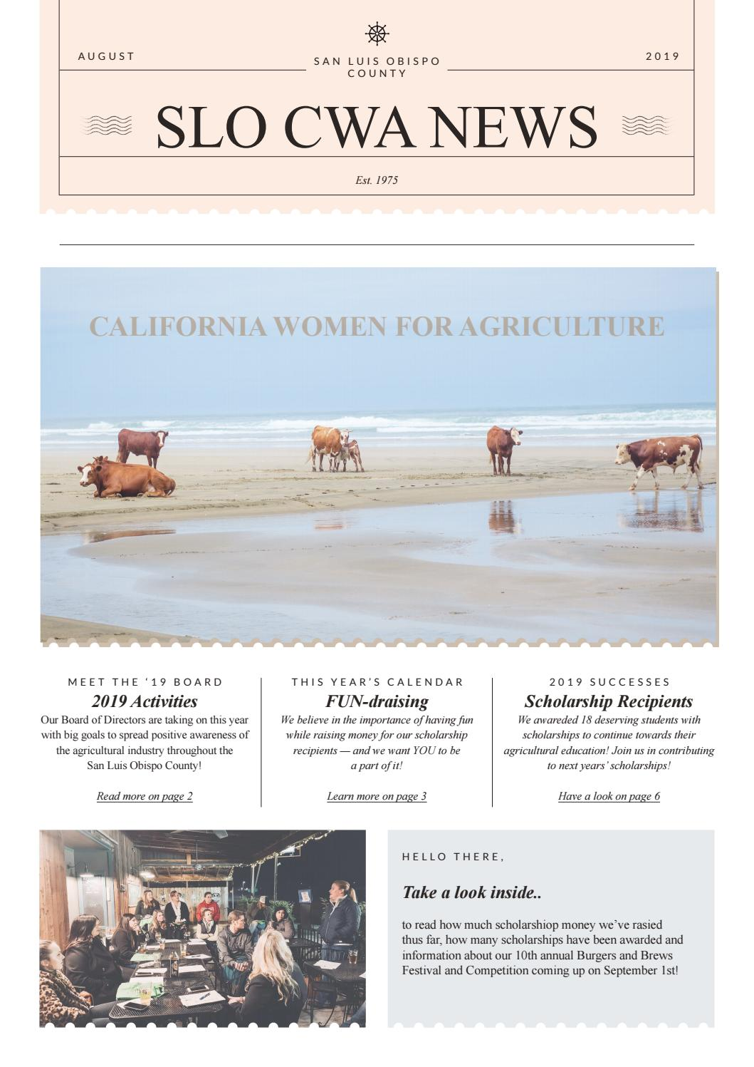 CWA SLO County Newsletter by Samantha Wallace - issuu