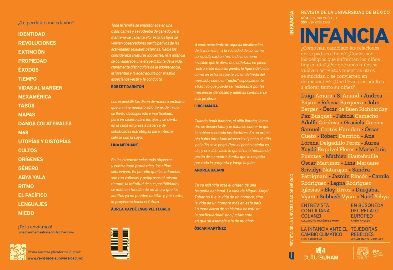 Revista De La Universidad De México Infancia Octubre 2019