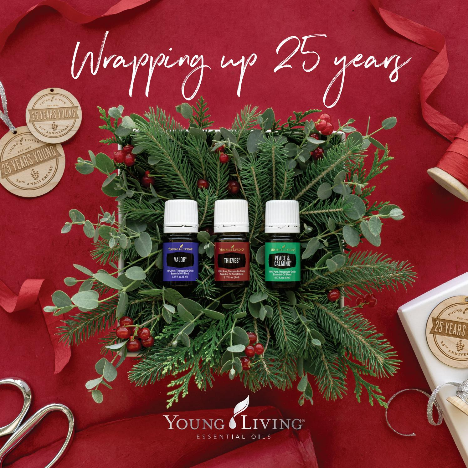 Doterra Christmas 2020 2019 U.S. Holiday Catalog: Wrapping Up 25 Years by Young Living