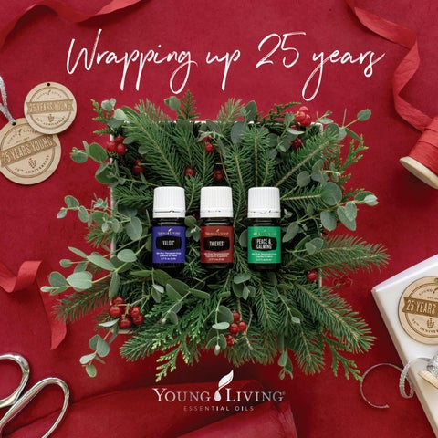 Young Living Christmas Tree.2019 U S Holiday Catalog Wrapping Up 25 Years By Young