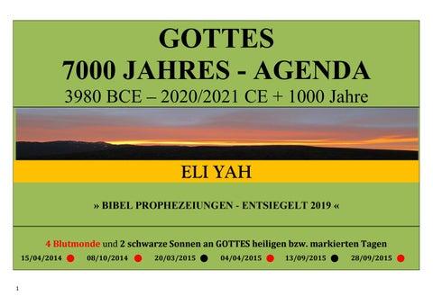 Gottes 7000 Jahres Agenda Und Satans Beitrag Edition 2019