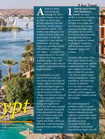 Page 91 of Aswan, Egypt; A Wonderful Surprise