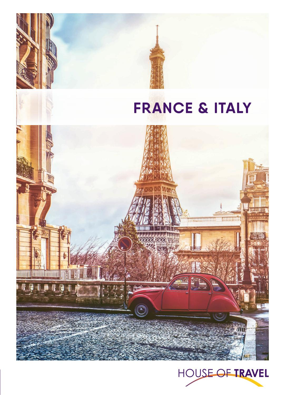 France Italy Brochure 2020 By House Of Travel Issuu