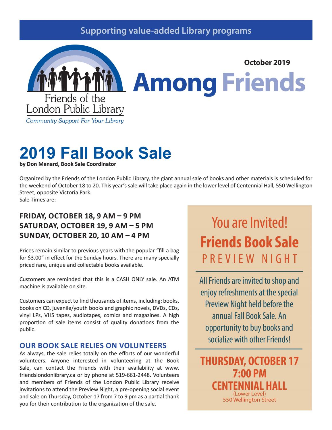 Friends of the London Library - Fall 2019 by Friends of the