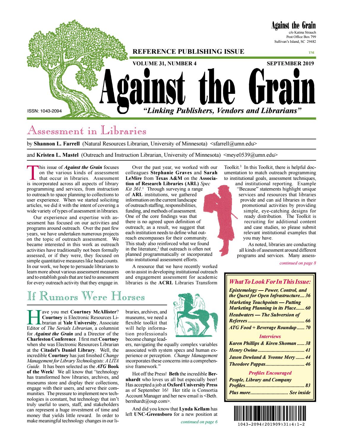 Vcu Academic Calendar Spring 2020.Against The Grain V31 4 September 2019 By Against The