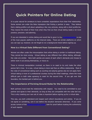 Online dating moree
