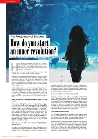 Page 12 of The frequency of success: How do you start an inner revolution?