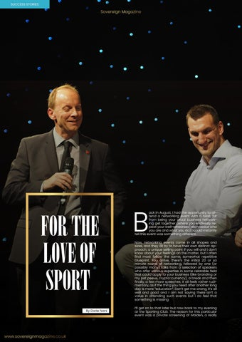 Page 22 of For the love of sport