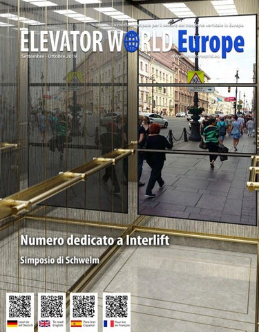 Elevator World Europe Italiano Settembre Ottobre 2019 By