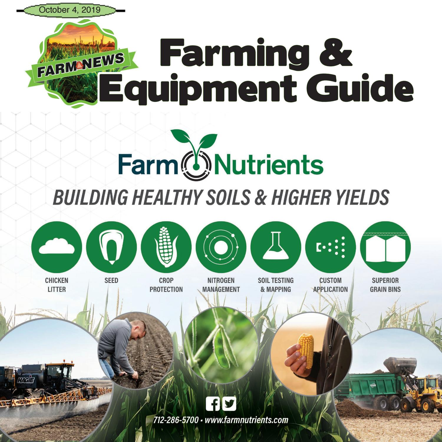 Farming & Equipment Guide October 4th, 2019 By Newspaper