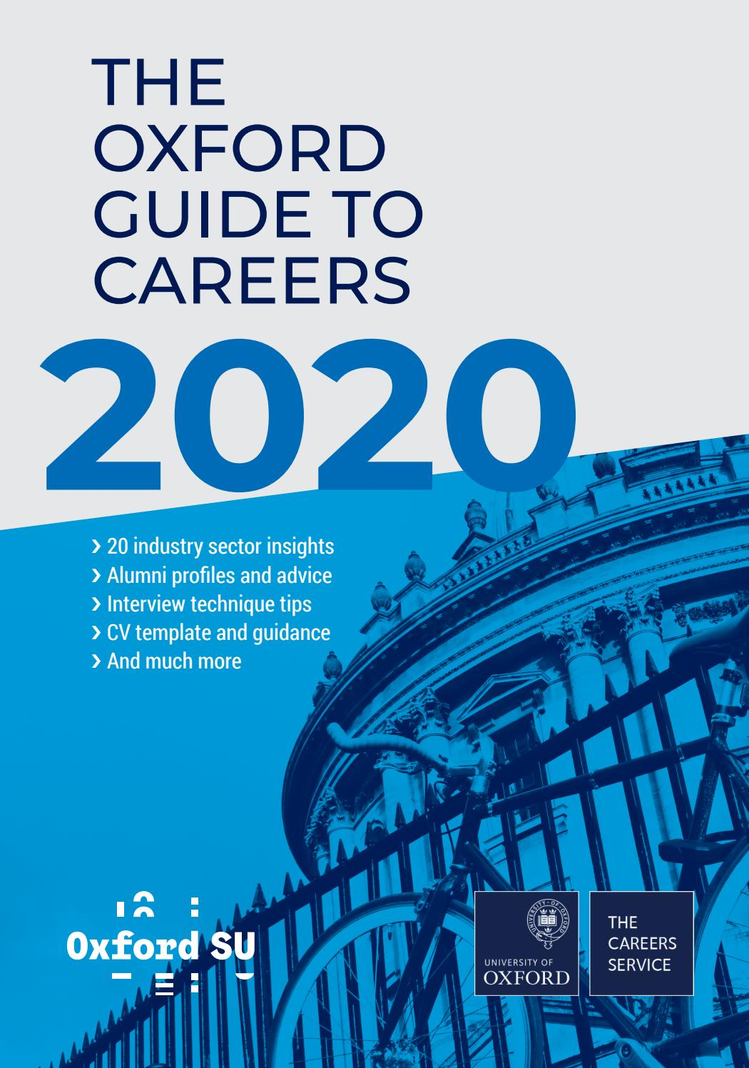 The Oxford Guide To Careers 2020 By Oxford University