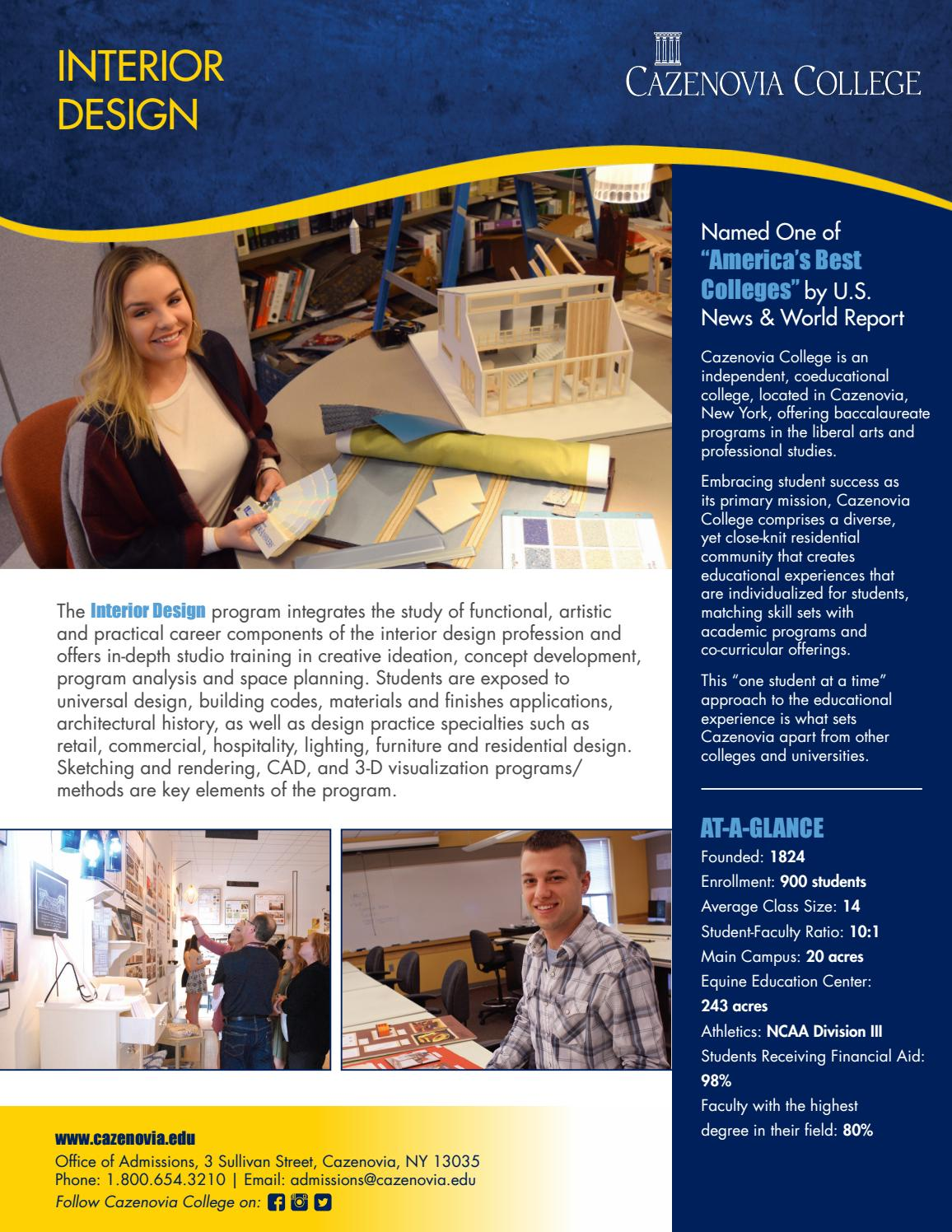 Interior Design Brochure By Cazenovia College Issuu