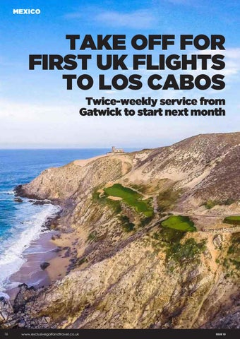 Page 16 of TAKE OFF FOR FIRST UK FLIGHTS TO LOS CABOS