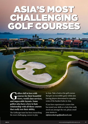 Page 23 of ASIA'S MOST CHALLENGING GOLF COURSES