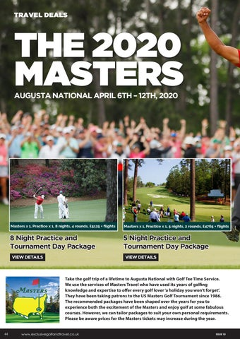 Page 44 of VISIT THE 2020 MASTERS