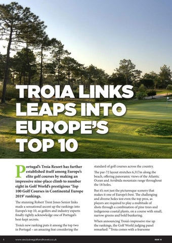 Page 6 of TROIA LINKS LEAPS INTO EUROPE'S TOP 10