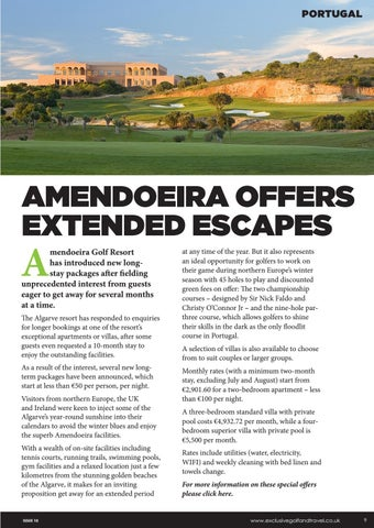 Page 9 of AMENDOEIRA OFFERS EXTENDED ESCAPES