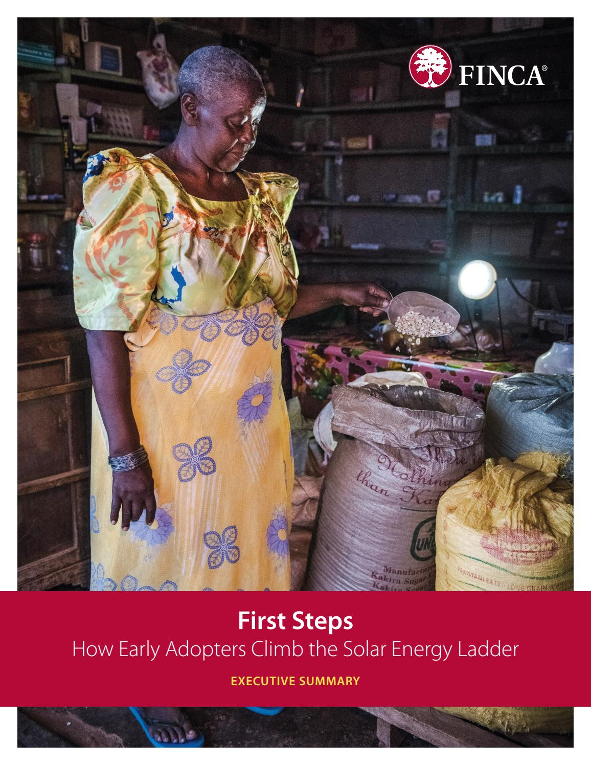 First Steps How Early Adopters Climb The Solar Energy Ladder Executive Summary By Finca International Issuu