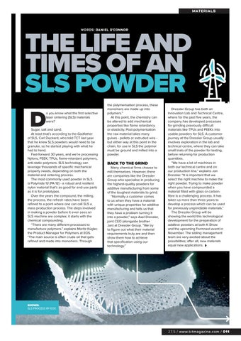 Page 11 of THE LIFE AND TIMES OF AN SLS POWDER