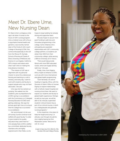 Page 11 of Meet Dr. Ebere Ume, New Nursing Dean